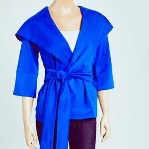 Xtaren hooded wrap vivid royal blue jacket large